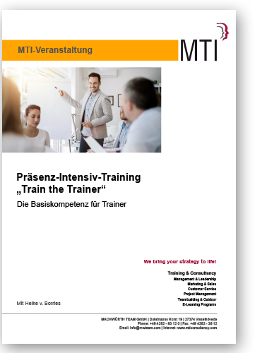 "Präsenz-Intensiv-Training ""Train the Trainer"""