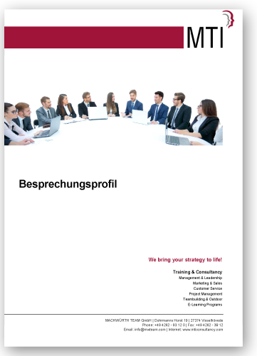 MTI Download Produkt: Besprechungsprofil