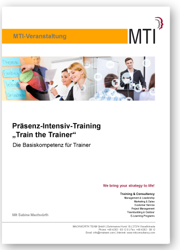 "Präsenz-Intensiv-Training ""Train the Trainer"" - Die Basiskompetenz für Trainer"
