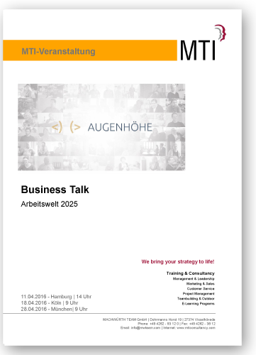 Business Talk: Arbeitswelt 2025