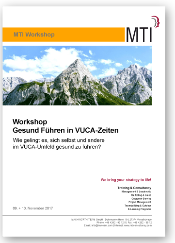 "Workshop ""Healthy leadership in VUCA times"""