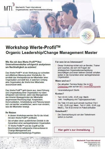 Workshop Werte-Profil™