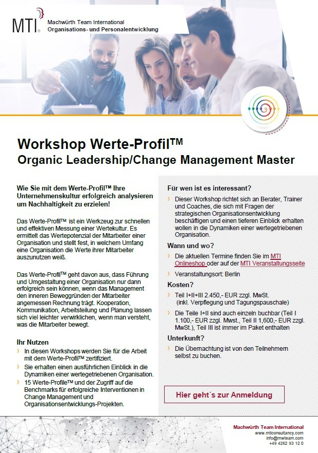 Flyer-Workshop-Werte-Profil-Organic-Leadership-Change-Management-Master